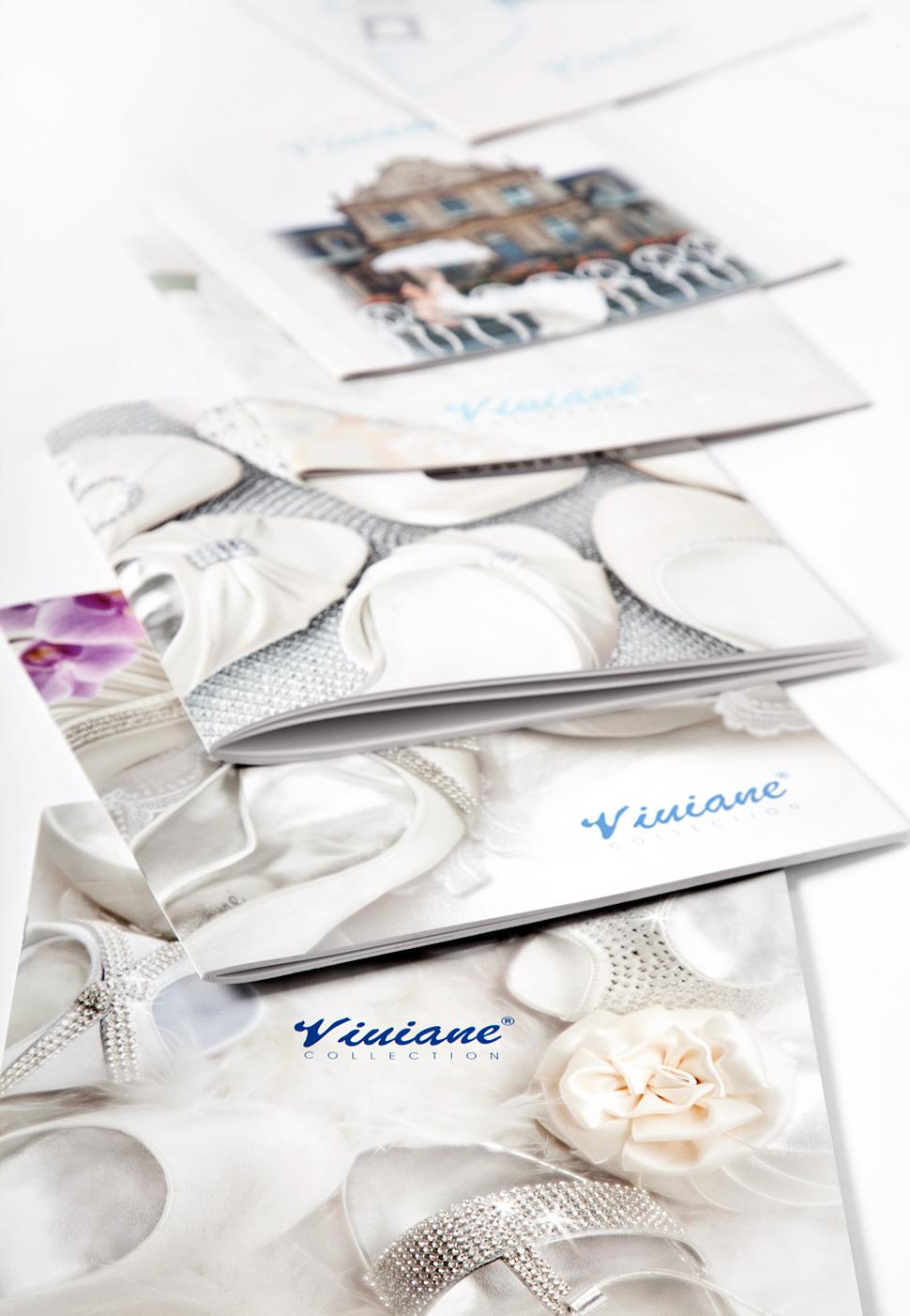 Okładki folderów produktowych firmy obuwniczej Viviane
