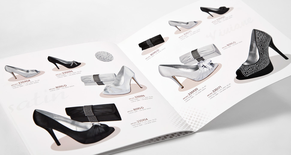 Katalog reklamowy producenta butów Viviane