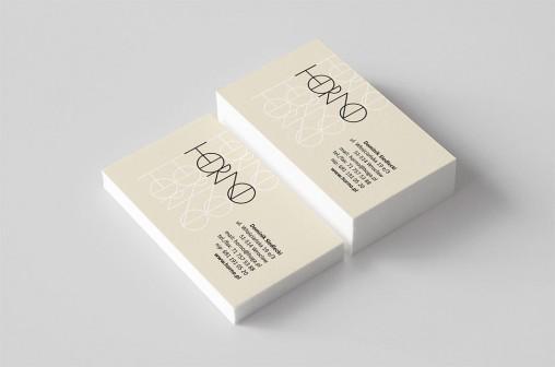 Wizytówki dla firmy Horno