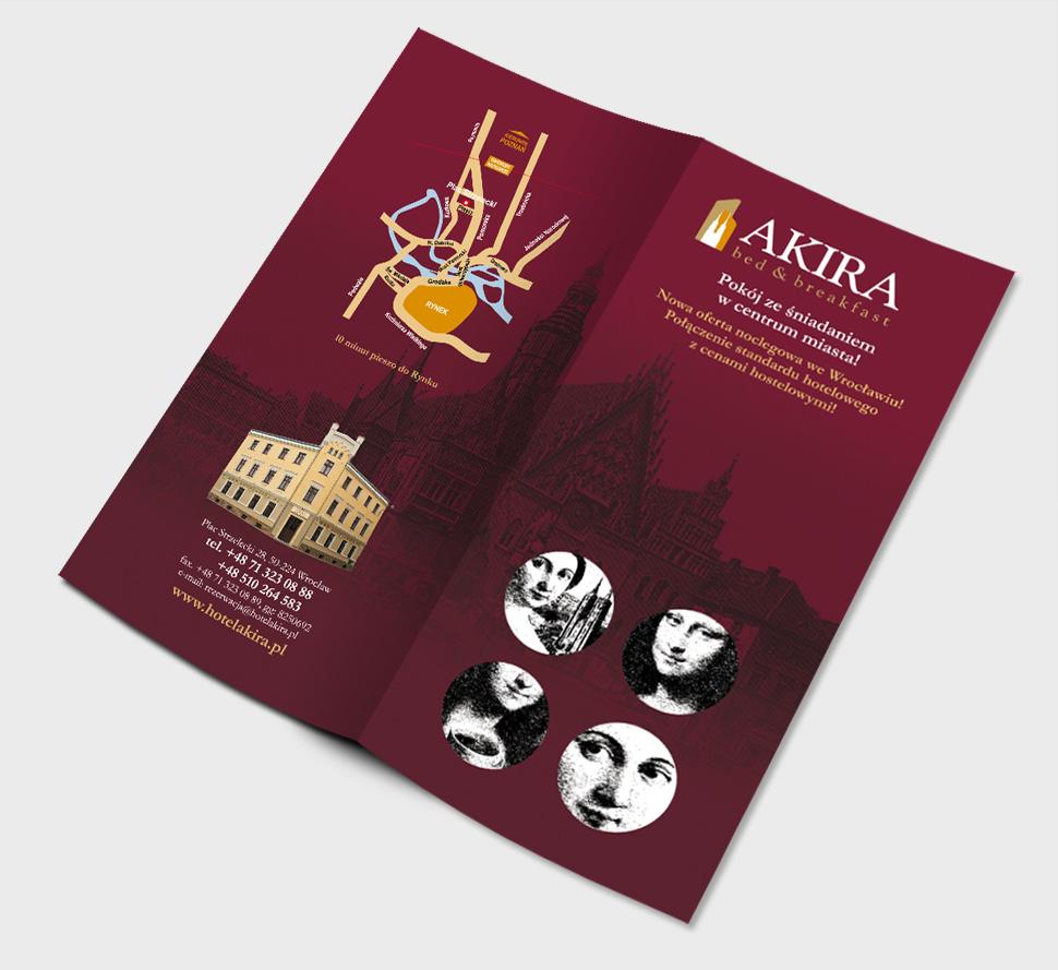Projekt ulotki reklamowej - Hotel Akira