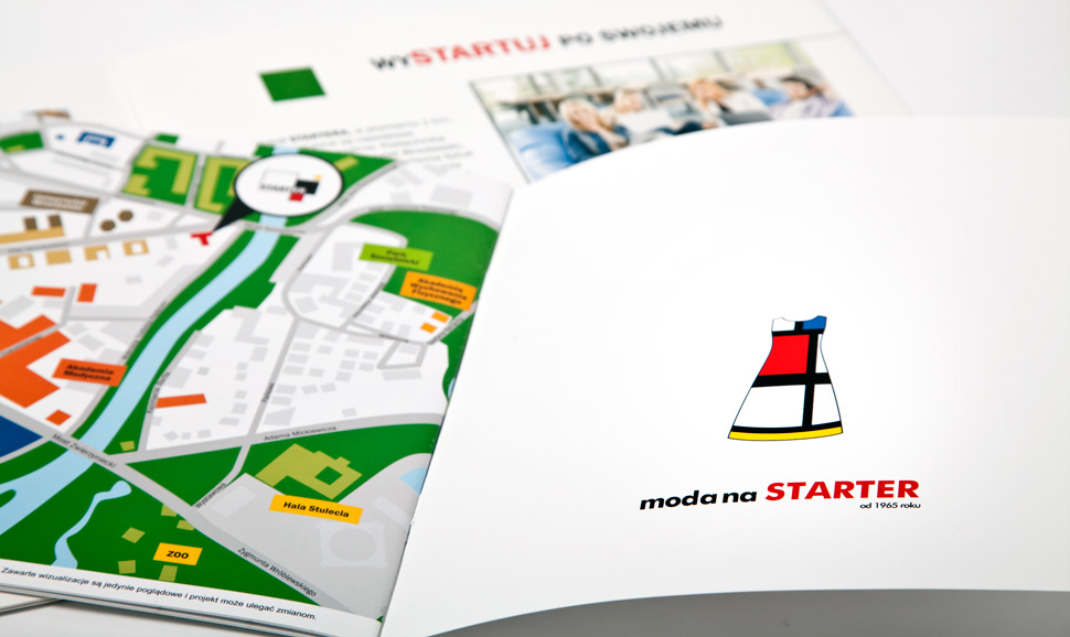 Folder reklamowy starter - opracowanie mapy.