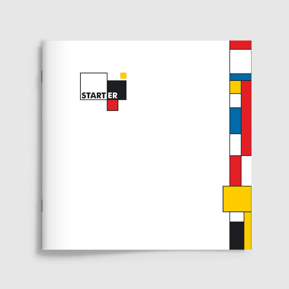 Okładka katalogu reklamowego mikroapartamentów Starter