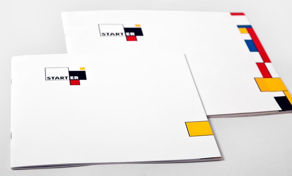 Okładki folderów reklamowych Starter