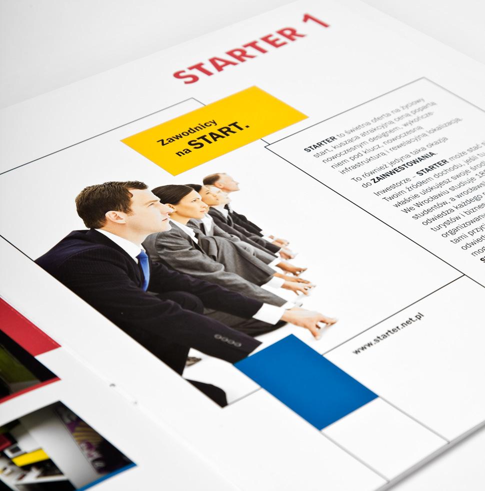 Folder reklamowy Starter - rozkładówka