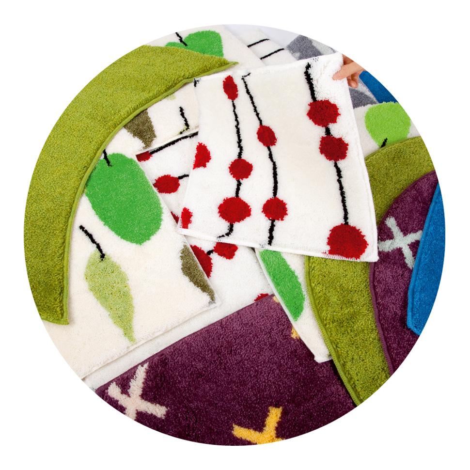 Projekty wzorów dywaników łazienkowych