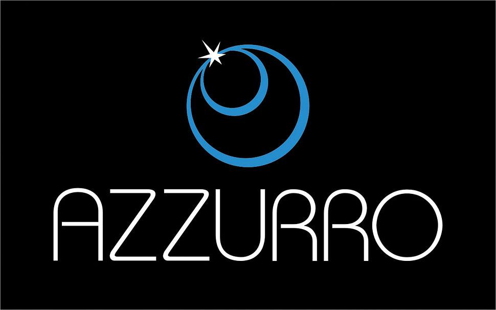 Projekt logotypu Azzurro - wersja ciemna