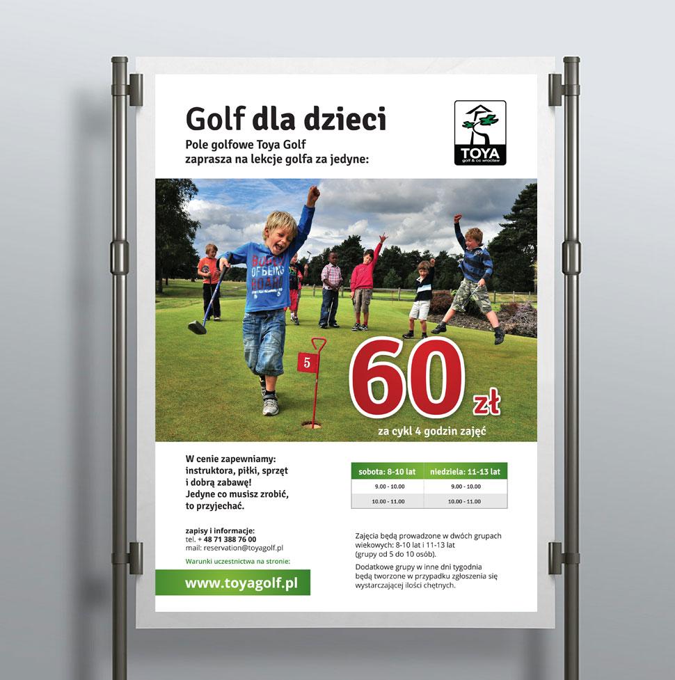 Plakat dla klubu golfowego.