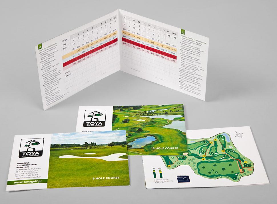 Karty wyników do gry w golfa