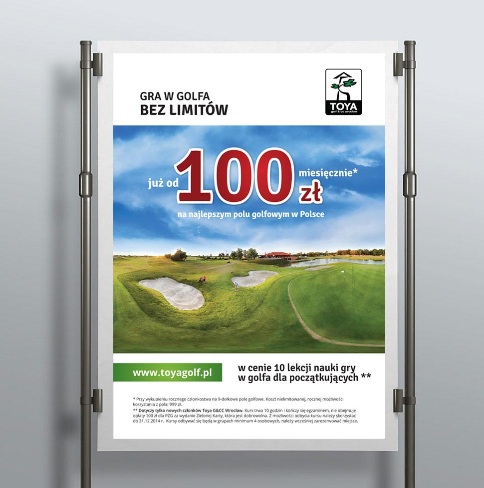 Plakat promocyjny Toya Golf