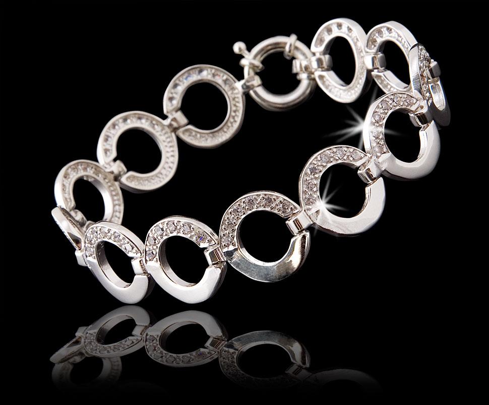 Zdjęcie biżuterii - srebrna bransoleta