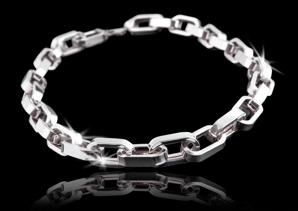 Męska bransoleta srebrna - fotografia produktu