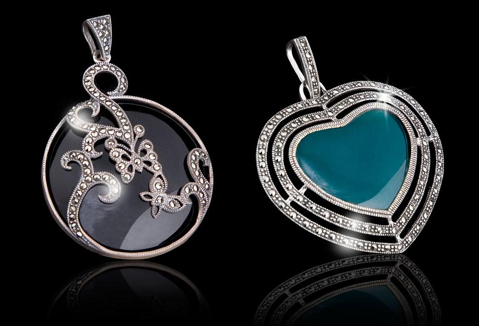 Zdjęcie katalogowe srebrnej biżuterii