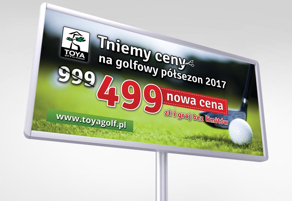 Projekt bilboardu dla Toya Golf