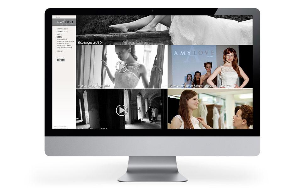 Strona www dla salonu sukien ślubnych Amy Love
