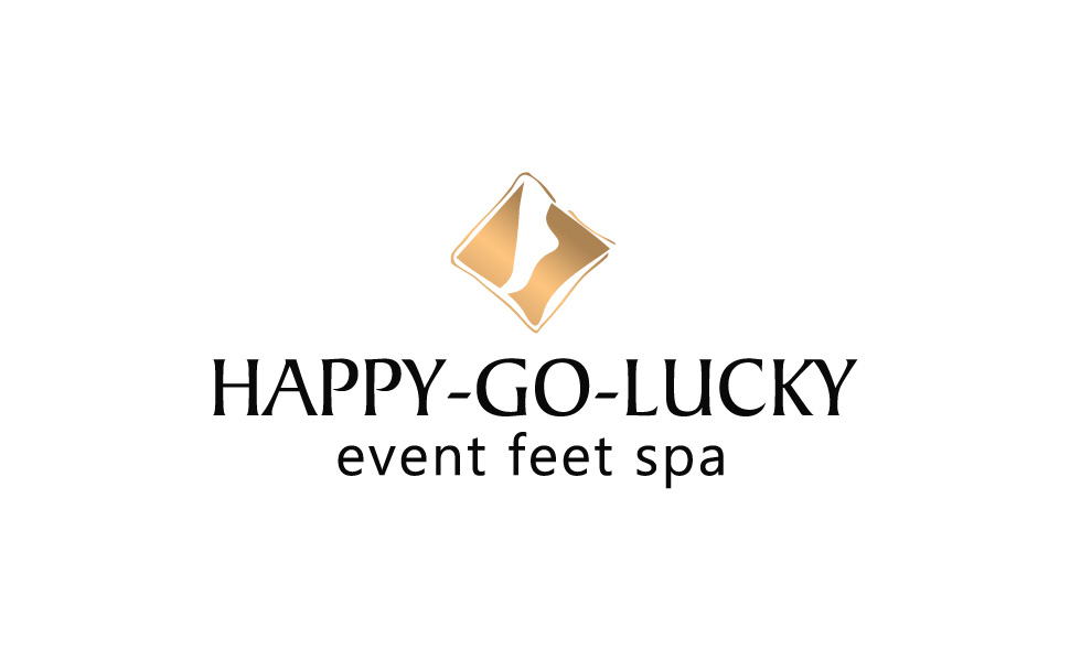Projekt logotypu dla Happy Go Lucky Event Feet Spa