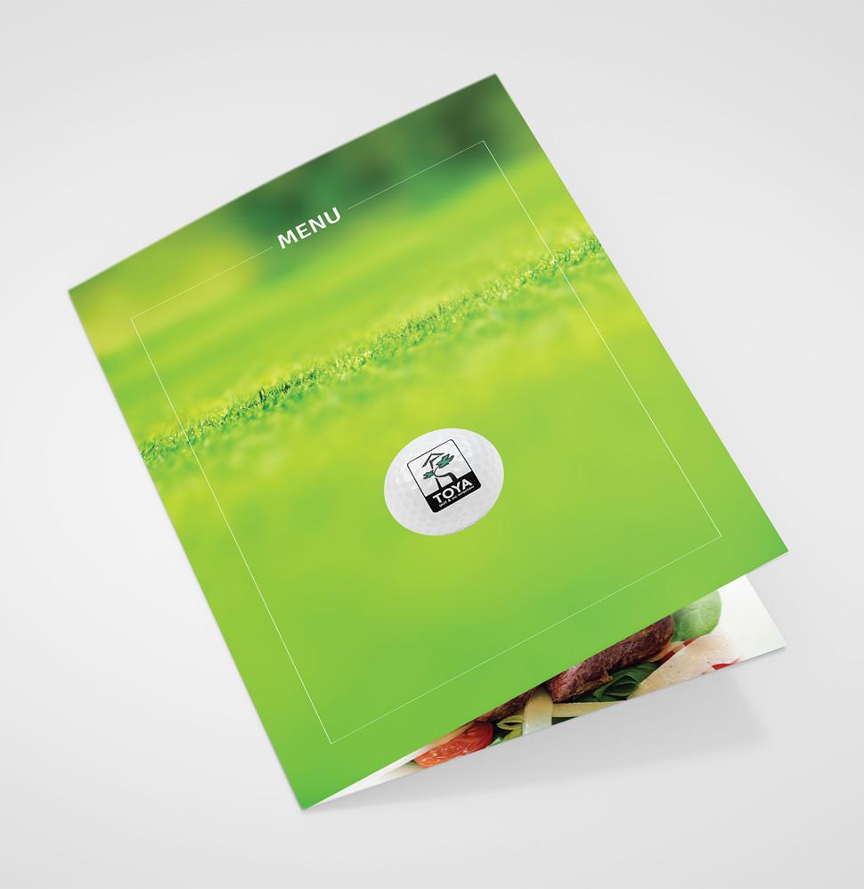 Projekt menu dla Restauracji Toya Golf