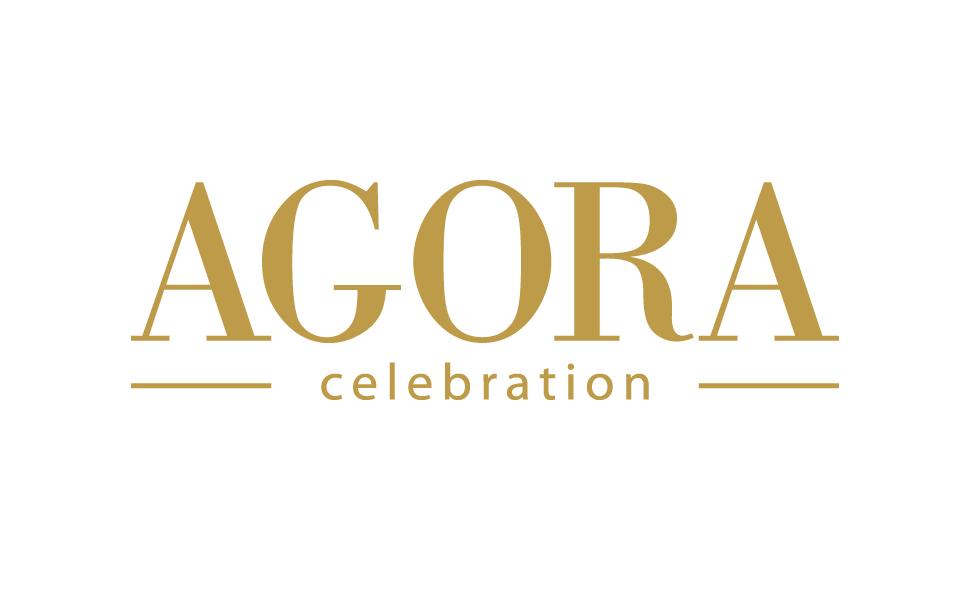 Projekt logo dla firmy Agora Celebration - producenta sukien ślubnych i wizytowych.