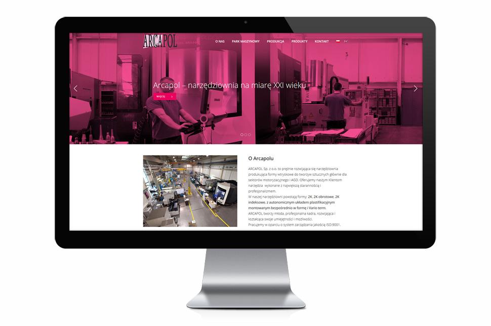 Arcapol - responsywna strona www