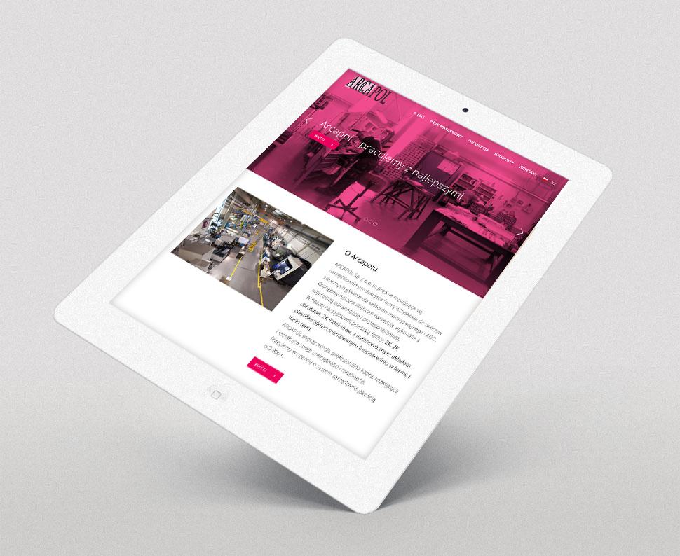 Arcapol responsywna strona www
