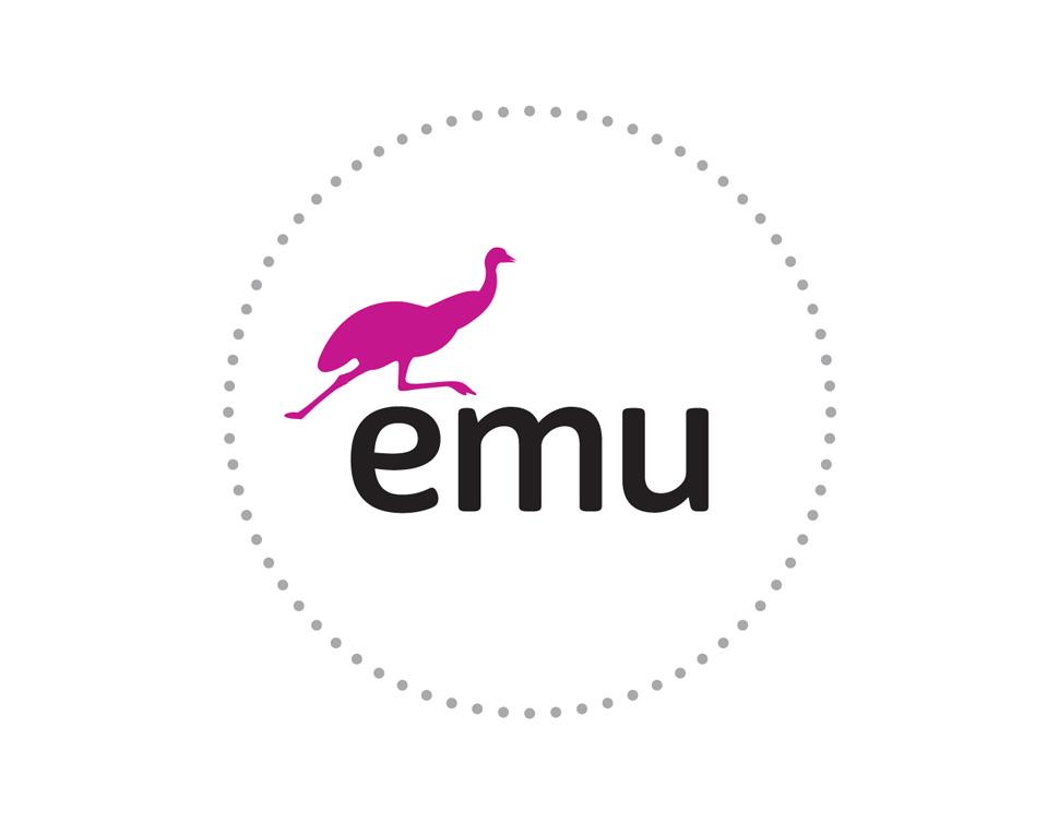 Logotyp dla firmy telekomunikacyjnej Emu