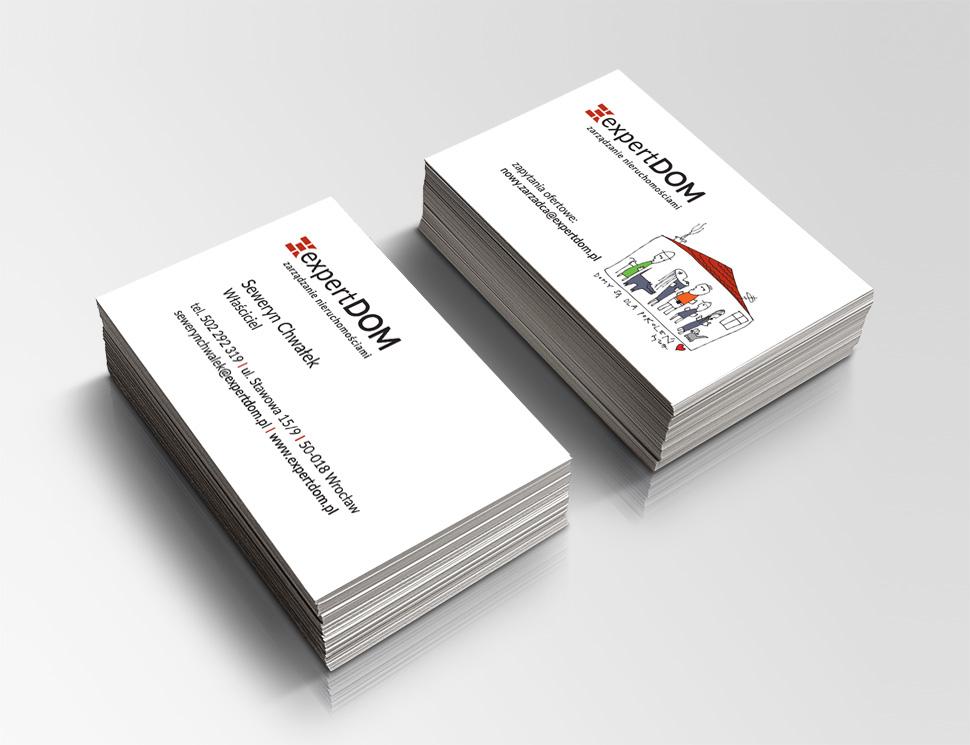 Projekt i przygotowanie do druku wizytówek