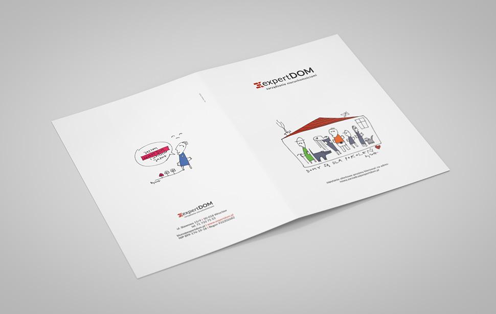 Folder firmowy dla Expert Dom